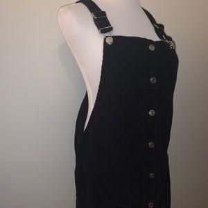 Top shop Black Overall Dress